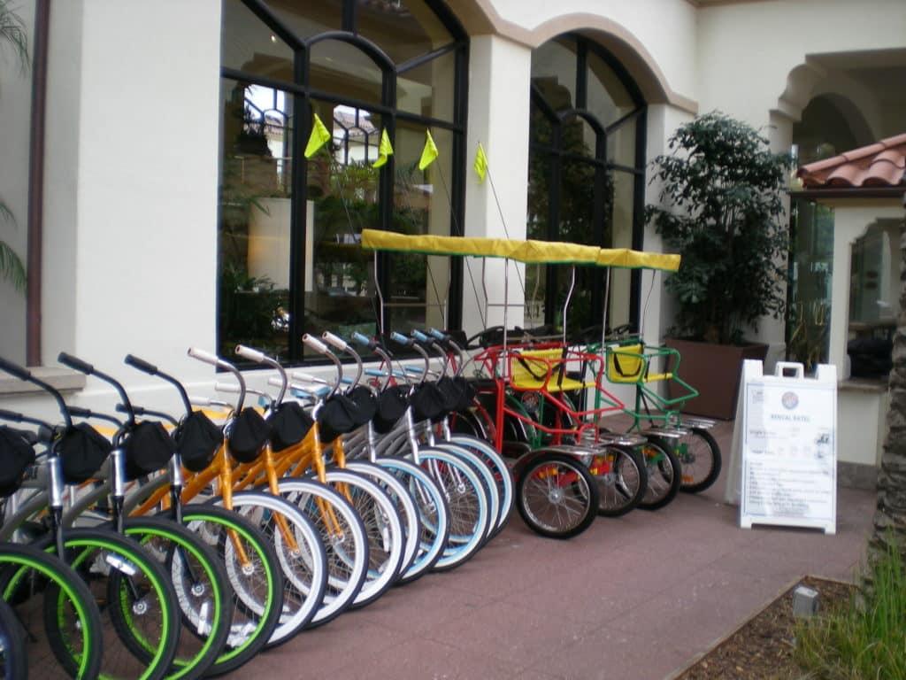 Huntington Beach bike rentals Hilton Waterfront beach resort