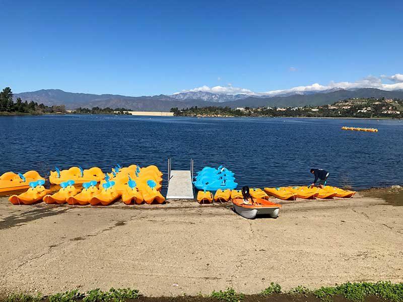 Pedal Boat Rentals in Bonelli Park San Dimas