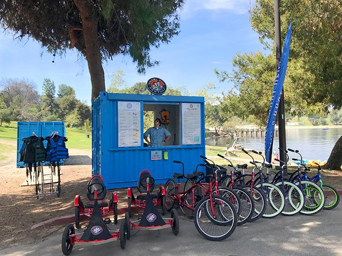 Rent a bike at San Dimas Bonelli Park