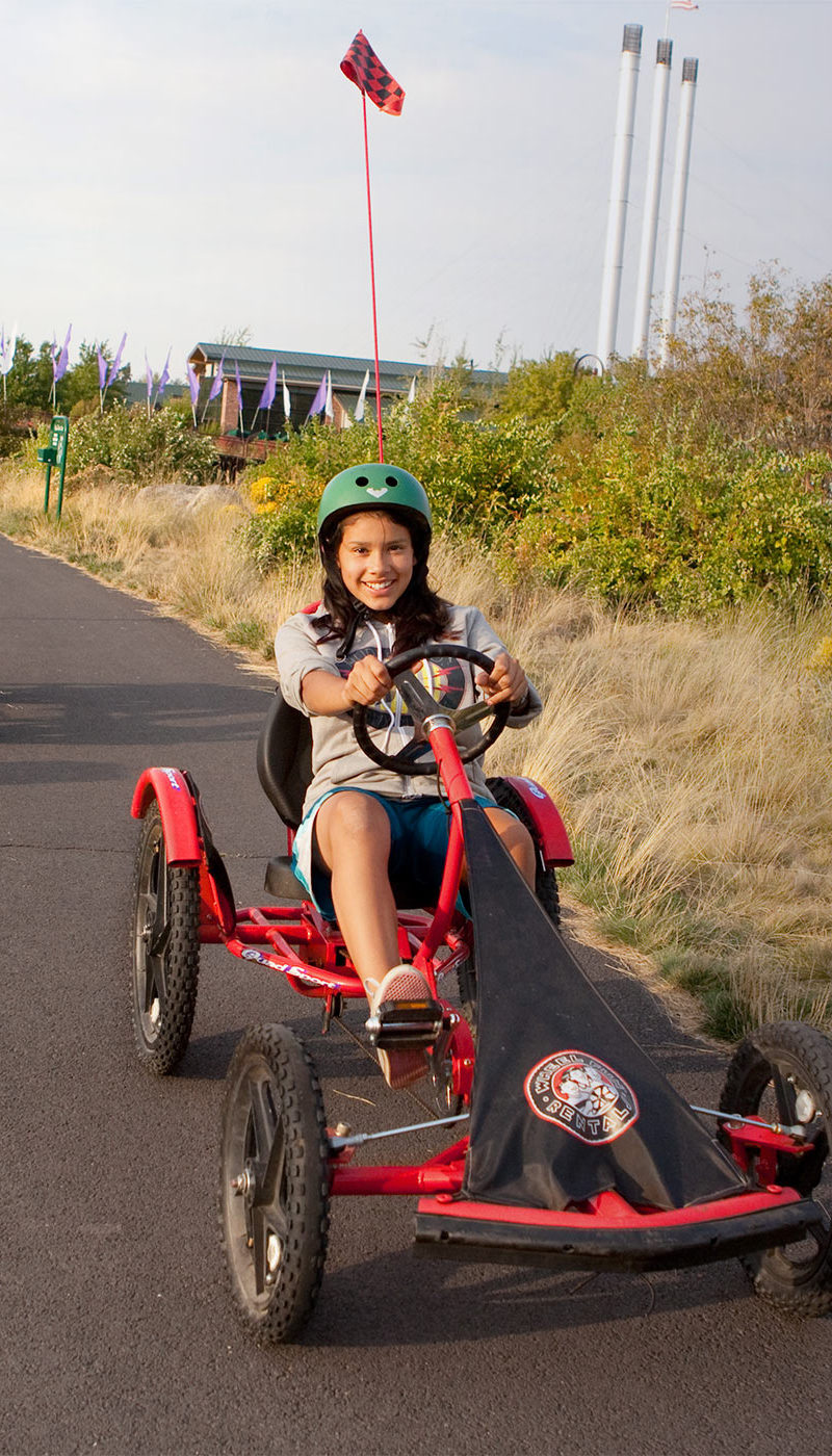 Grab a friend and race around Old Mill on a Quad Sport