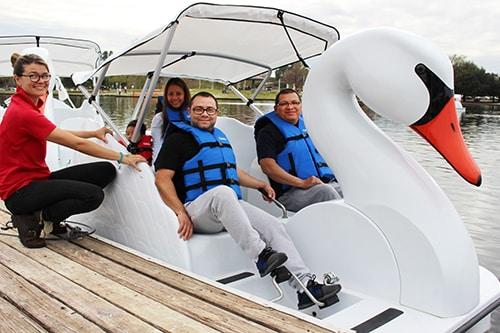 Team-building on Wheel Fun Rentals Swan Boats in Los Angeles, CA