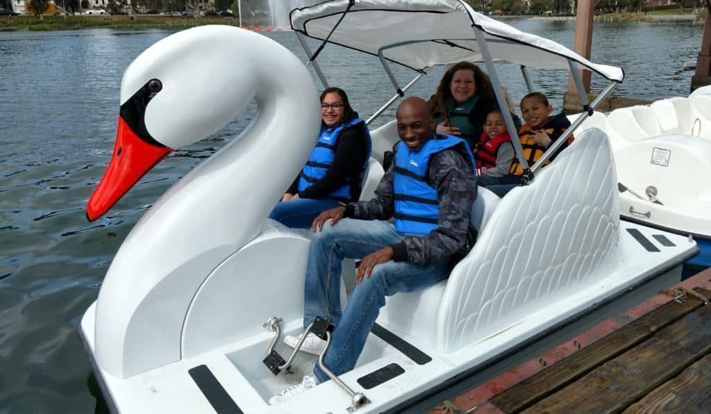 Swan Boat Rental from Wheel Fun Rentals in Echo Park