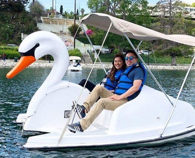 Swan boat from Wheel Fun Rentals