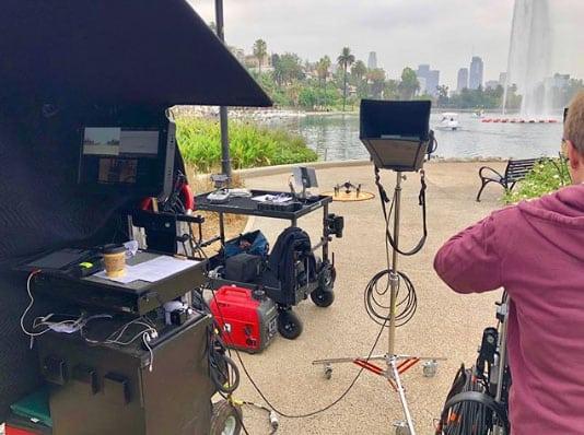 Film Shoots at Echo Park Swan Boats