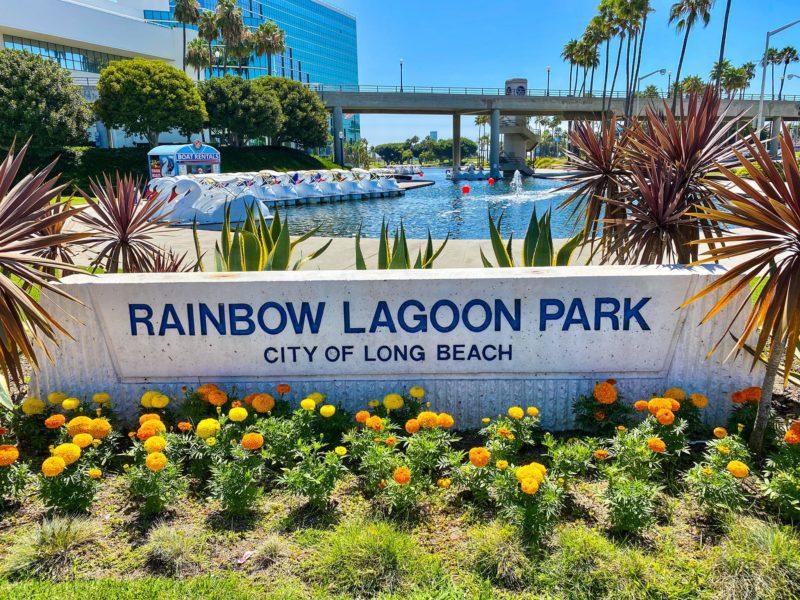 Rainbow Lagoon Park Sign